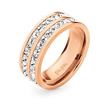 Folli Follie Classy rose gold-plated crystal ring size L 1/2 - Product number 1623613