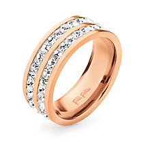 Folli Follie Classy rose gold-plated crystal ring size N - Product number 1623621