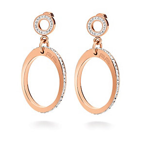 Folli Follie Classy rose gold-plated crystal drop earrings - Product number 1623680