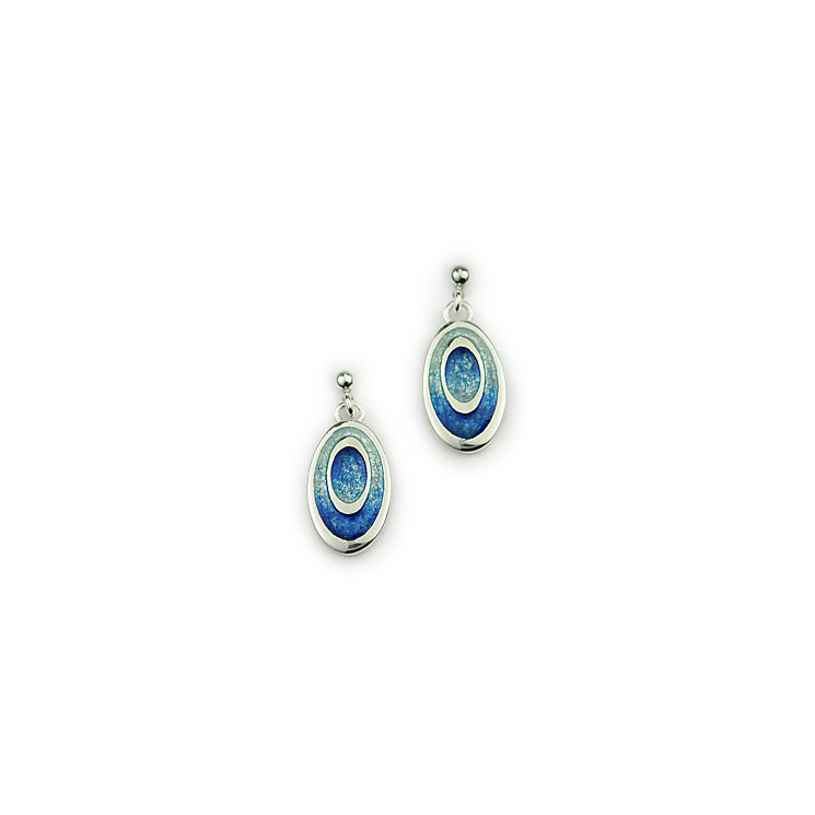 Ortak Sterling Silver & Enamel Oasis Blue Earrings - Product number 1624369