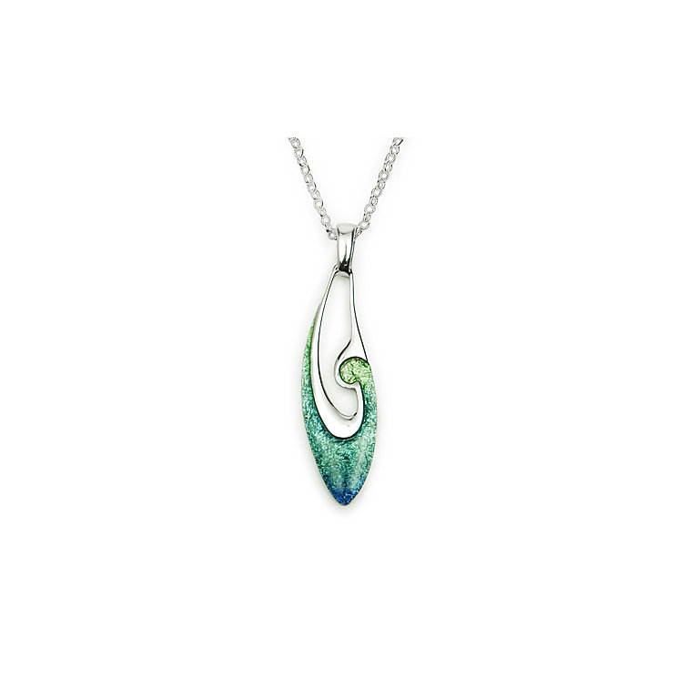 Ortak Mangrove Sterling Silver Hot Glass Pendant - Product number 1624377