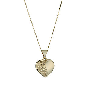 "9ct Gold 18"" Heart Locket - Product number 1624512"