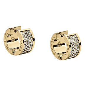 Michael Kors gold-plated pave stone set huggie earrings - Product number 1624644