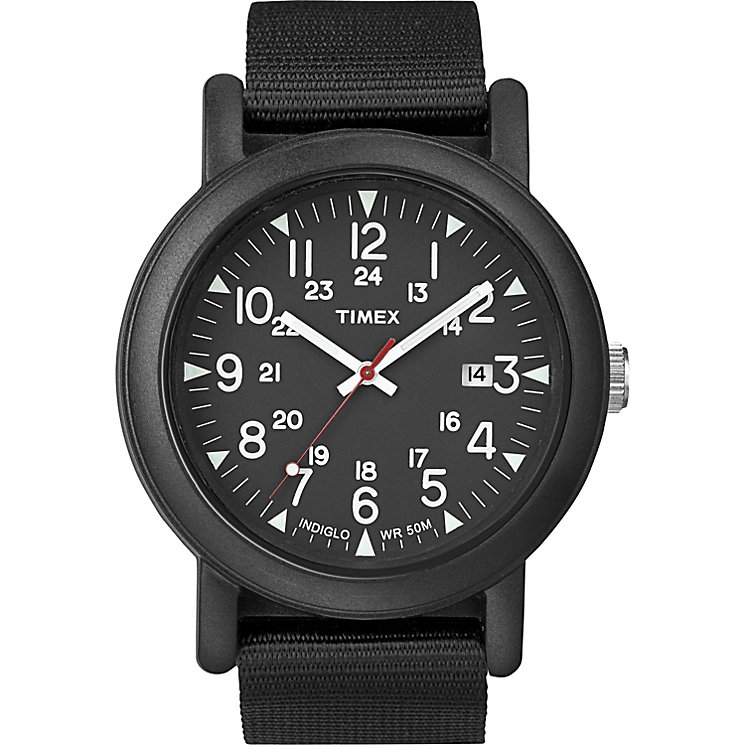Timex Original Men's Black Camper Strap Watch - Product number 1624776