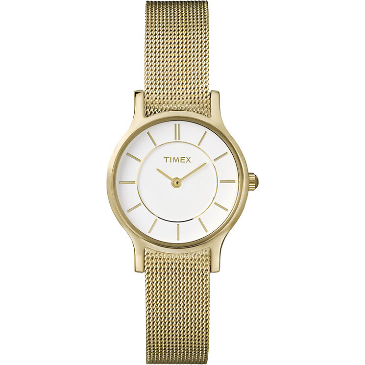 Timex Ladies' Gold Tone Mesh Bracelet Watch - Product number 1624954