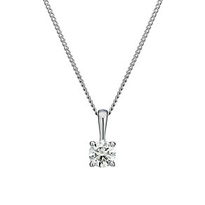 18ct white gold 0.25ct diamond pendant - Product number 1628305