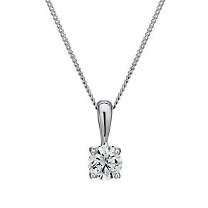 18ct white gold 0.50ct diamond pendant - Product number 1628526