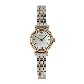 Emporio Armani ladies' two colour bracelet watch - Product number 1629239