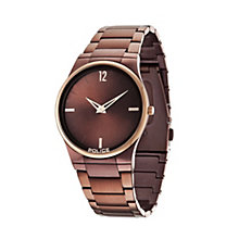 Police Men's Brown Iron-Plated Bracelet Watch - Product number 1629271