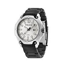 Police Men's Stainless Steel Black Silicone Strap Watch - Product number 1629298