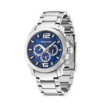 Police Men's Blue Dial Stainless Steel Bracelet Watch - Product number 1629301