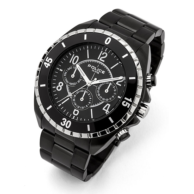 Police Men's Black Ion-Plated Bracelet Watch - Product number 1629441