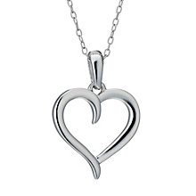 Sterling Silver Heart Twist Pendant - Product number 1630423