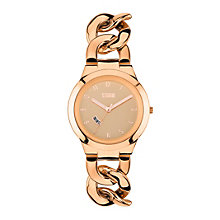 STORM Ladies' Rose Gold-Plated Easylink Bracelet Watch - Product number 1630547