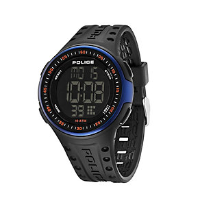 Police Men's LCD Black PU Strap Watch - Product number 1630555