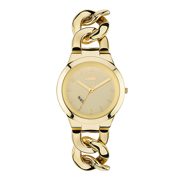 STORM Ladies' Gold-Plated Easylink Bracelet Watch - Product number 1630563