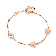 Folli Follie Fiorissimo rose gold-plated crystal bracelet - Product number 1630768
