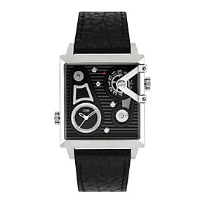 STORM Dual Square Men's Black Leather Strap Watch - Product number 1630830