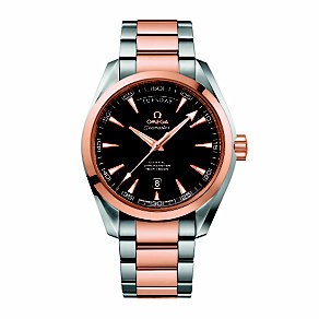 Omega Seamaster men's two colour bracelet watch - Product number 1631063