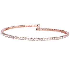 Rose Gold-Plated Crystal Single Bracelet - Product number 1632272