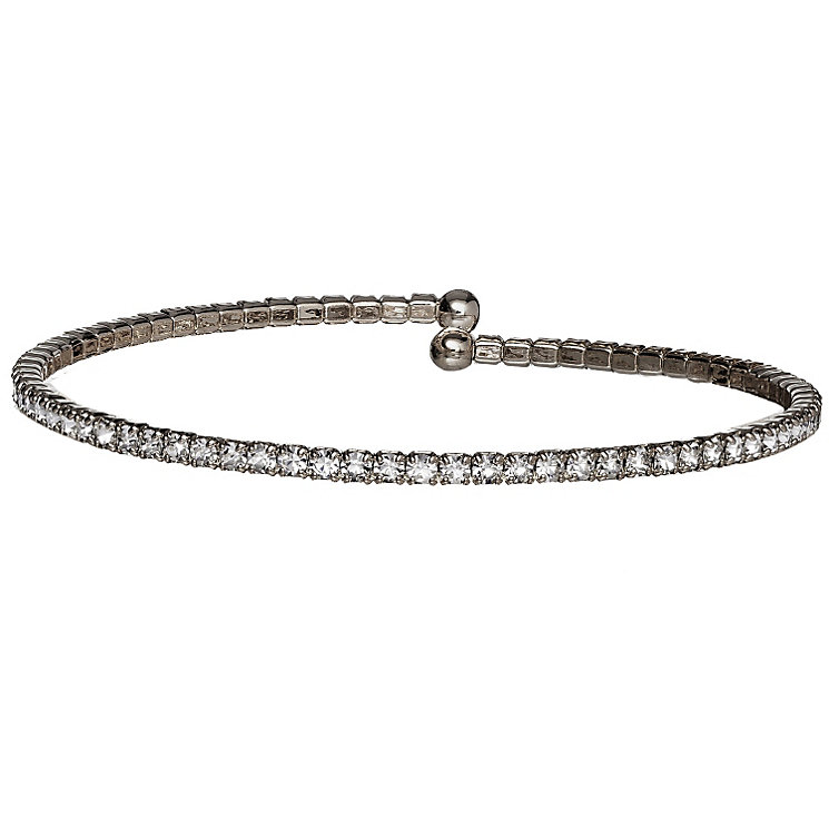 Black Ion-Plated Crystal Single Bracelet - Product number 1632280