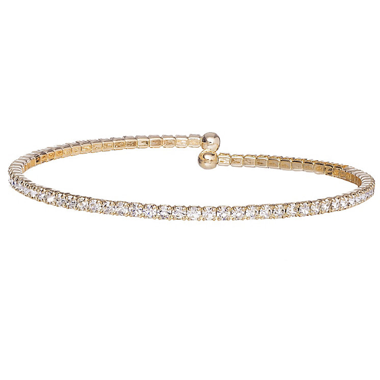 Gold-Plated Crystal Single Bracelet - Product number 1632299