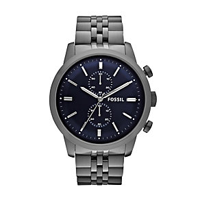 Fossil Men's Grey Stainless Steel Bracelet Watch - Product number 1633961