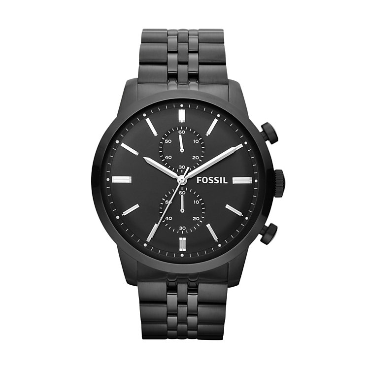 Fossil Men's Black Stainless Steel Bracelet Watch - Product number 1633996