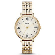 Fossil Jacqueline Ladies' Gold-Plated Bracelet Watch - Product number 1634178