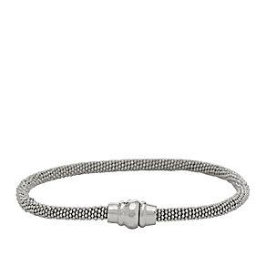 Fossil Sterling Silver Magnetic Fastener Bracelet - Product number 1634909