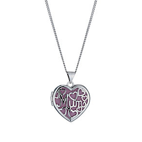 Sterling Silver Rhodium-Plated 18