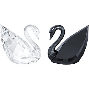 Swarovski Crystal & Jet Swans - Product number 1635972