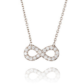Gaia Dreams Sterling Silver Stone Set Infinity Necklace - Product number 1637169