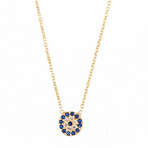 Gaia Dreams Gold-Plated Crystal Evil Eye Pendant - Product number 1637193