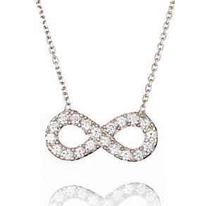 Gaia Dreams Sterling Silver Medium Infinity Necklace - Product number 1637207