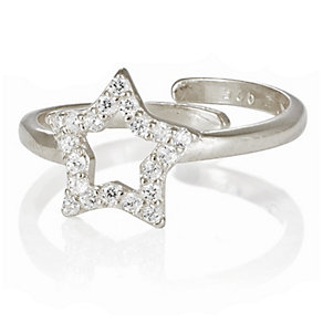 Gaia Dreams Sterling Silver Stone Set Open Star Ring - Product number 1637312