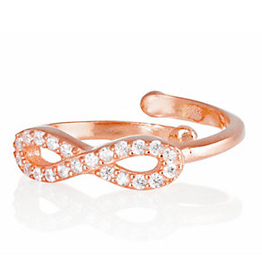 Gaia Dreams Rose Gold-Plated Stone Set Infinity Ring - Product number 1637428