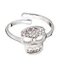 Gaia Dreams Sterling Silver Cubic Zirconia Skull Ring - Product number 1637436