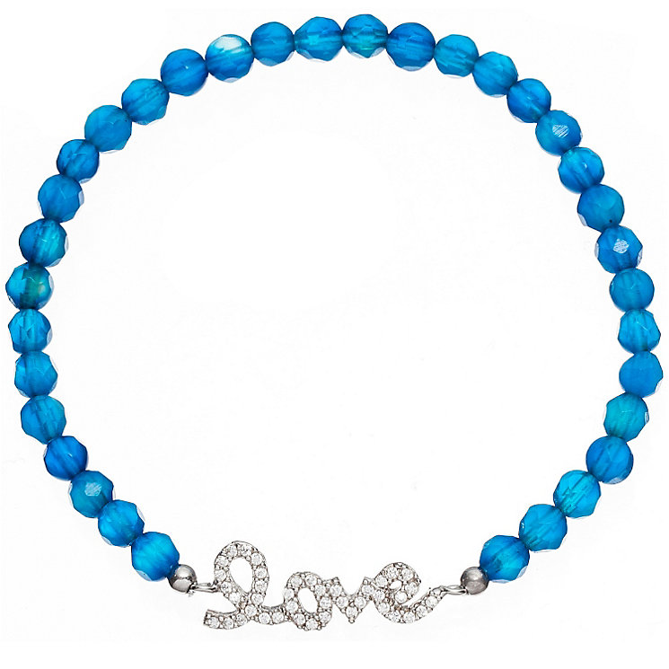 Gaia Dreams Silver Stone Set Love Blue Bead Bracelet - Product number 1637509