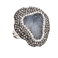 Gaia Sterling Silver Drusy & Swarovski Crystal Elements Ring - Product number 1637576