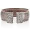 Sterling Silver Snakeskin Effect & Swarovski Elements Cuff - Product number 1637606