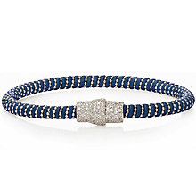 Gaia Sterling Silver Cubic Zirconia Blue Silk Bracelet - Product number 1637649
