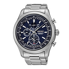 Seiko men's chronograph stainless steel bracelet watch - Product number 1637738