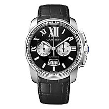 Cartier Calibre men's stainless steel black strap watch - Product number 1637746