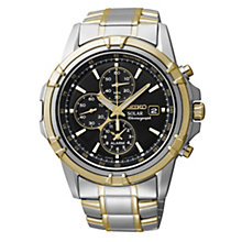 Seiko Solar men's chronograph two colour bracelet watch - Product number 1637754