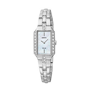 Seiko Solar ladies diamond stainless steel bracelet watch - Product number 1637827
