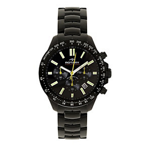 Rotary Aquaspeed Men's Black Ion-Plated Bracelet Watch - Product number 1638548