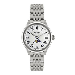Rotary Men's Moonphase Stainless Steel Bracelet Watch - Product number 1638564