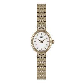 Rotary Ladies' Oval Dial Rose Gold-Plated Bracelet Watch - Product number 1638645