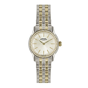 Rotary Ladies' Two Tone Stainless Steel Bracelet Watch - Product number 1638661